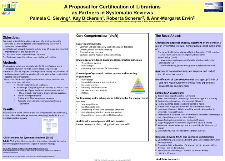 A Proposal for Certification of Librarians