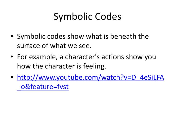Ppt Symbols And Codes Powerpoint Presentation Id2504428