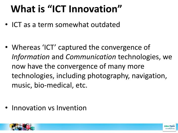 "What is ""ICT Innovation"""