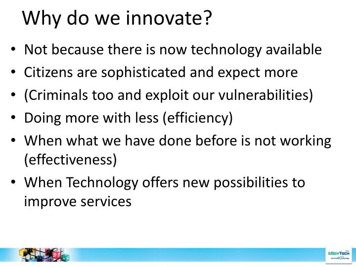 Why do we innovate?
