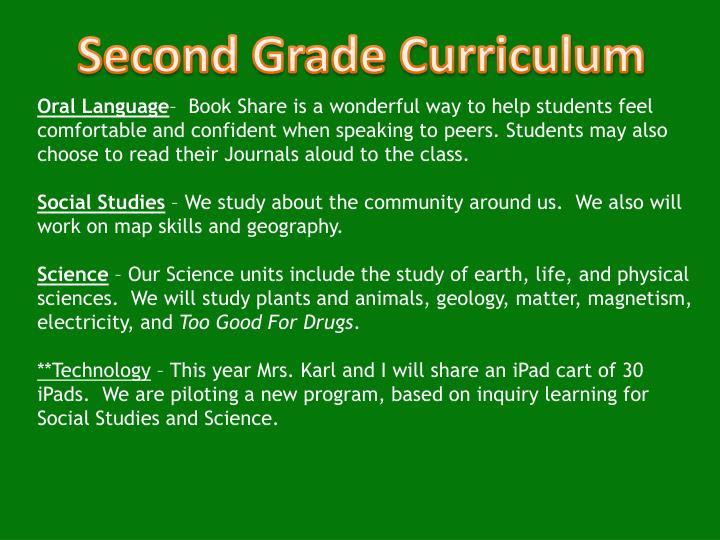 Second Grade Curriculum