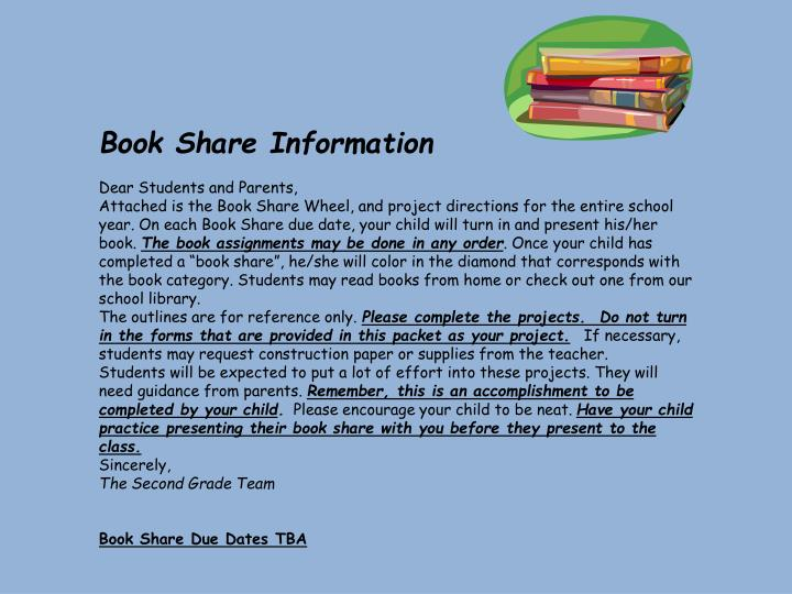 Book Share Information