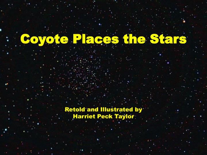 coyote places the stars n.