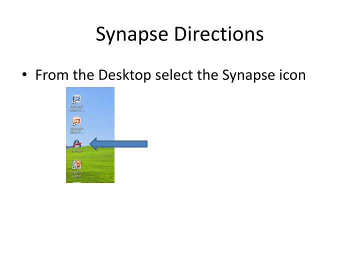 synapse directions n.