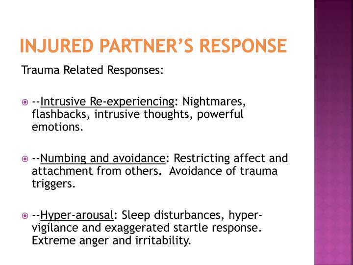 Injured partner's Response