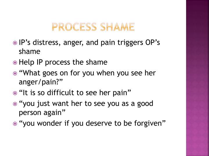 Process shame