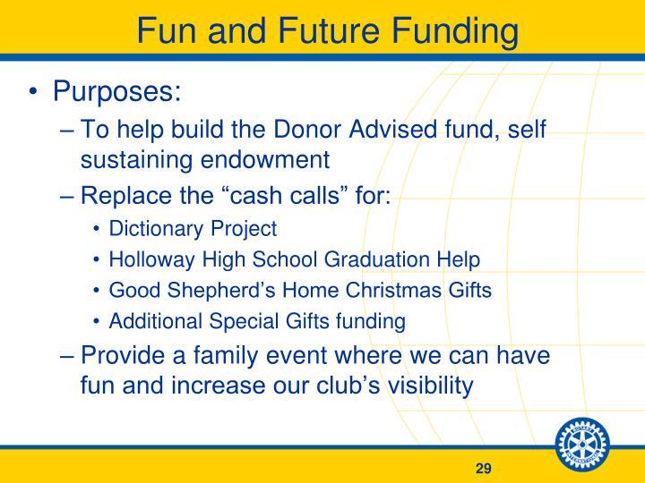 Fun and Future Funding