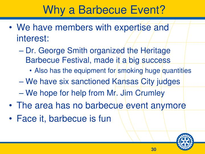 Why a Barbecue Event?