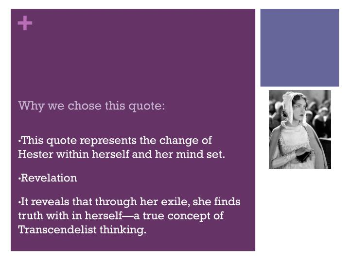 Why we chose this quote: