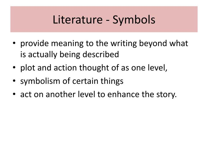 Ppt Symbol In Literature Powerpoint Presentation Id2504932