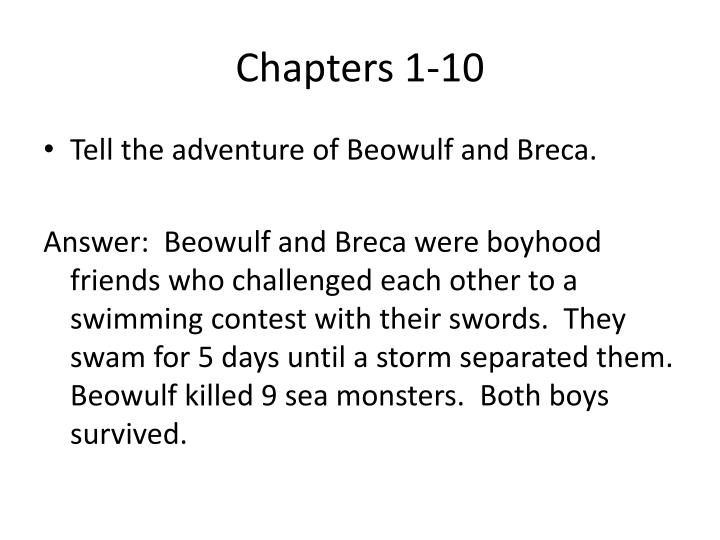Chapters 1-10