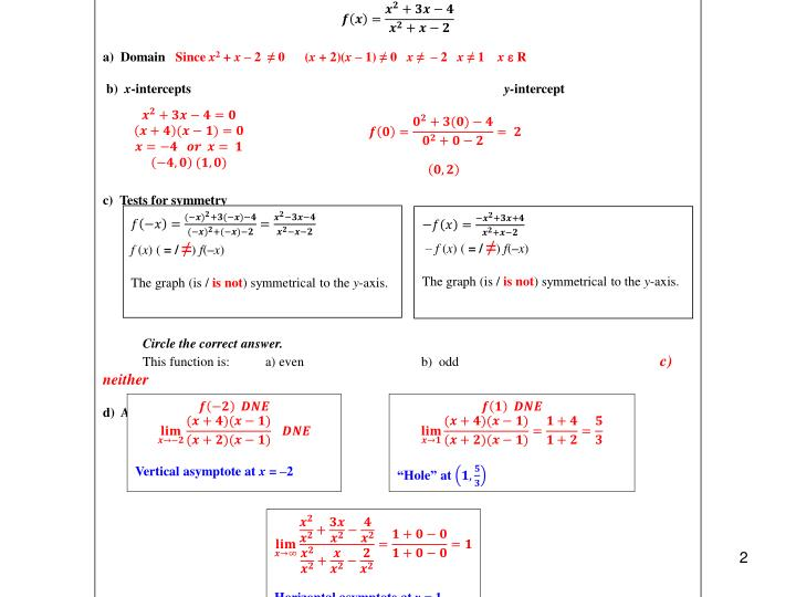 RATIONAL FUNCTIONS EXAMPLE 1
