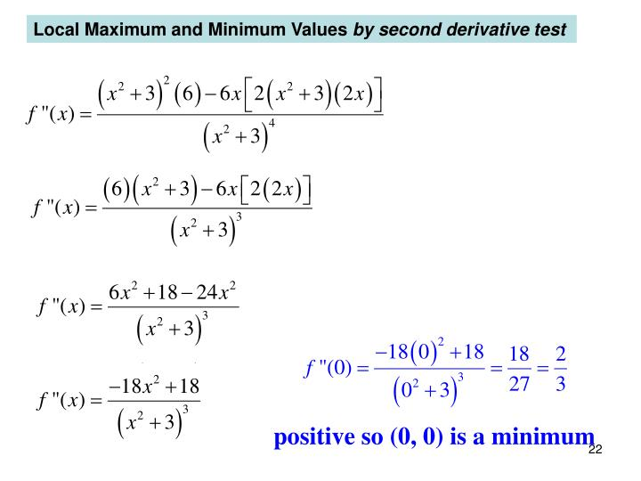 Local Maximum and Minimum Values