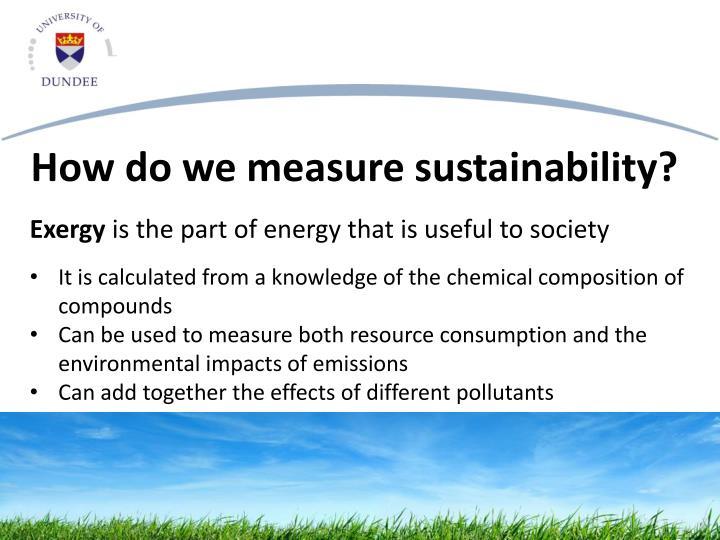 How do we measure sustainability?