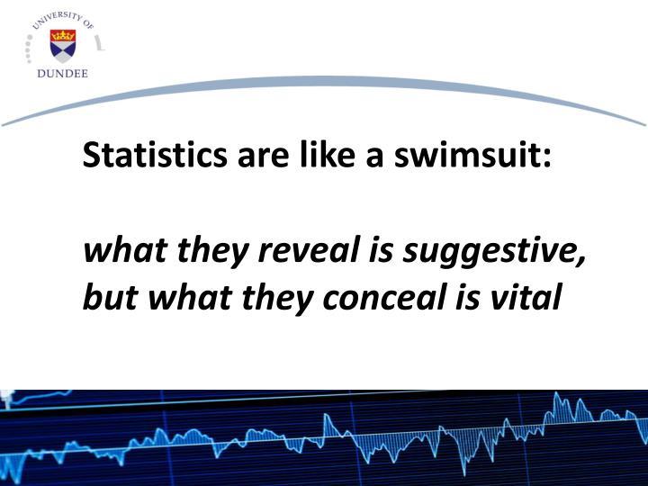 Statistics are like a