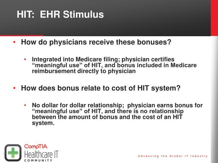HIT:  EHR Stimulus