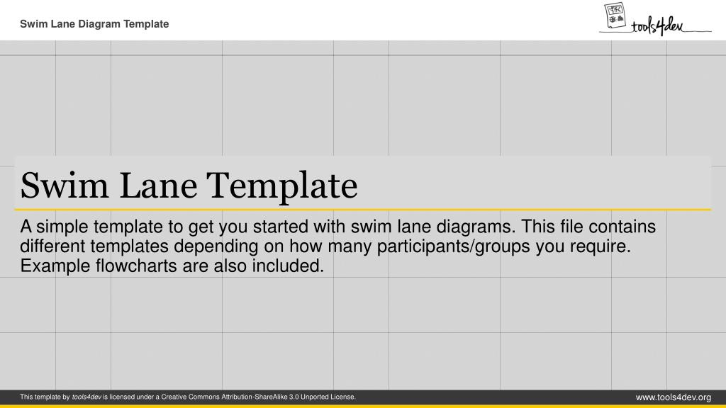swim lane template n