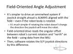 field oriented angle adjustment