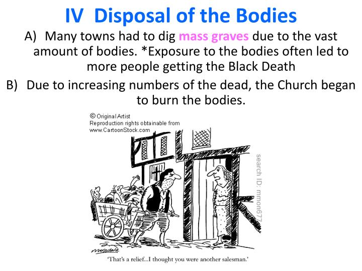 IV  Disposal of the Bodies