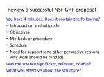 review a successful nsf grf proposal2