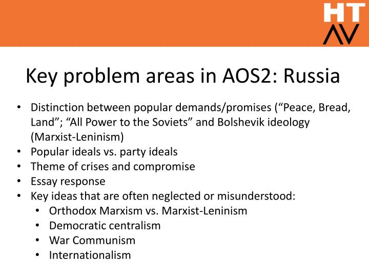 Key problem areas in aos2 russia