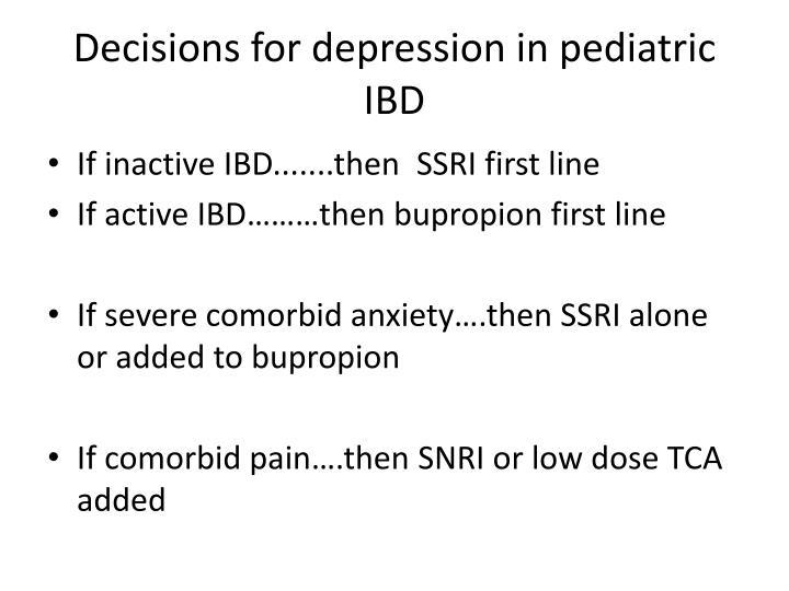 Decisions for depression in pediatric IBD