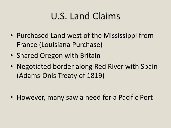 U.S. Land Claims