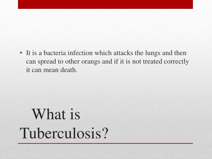 What is tuberculosis