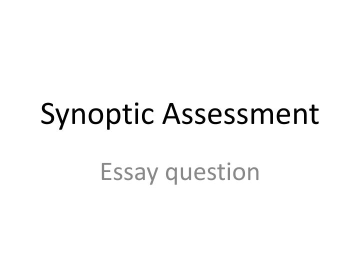 biology a level synoptic essay