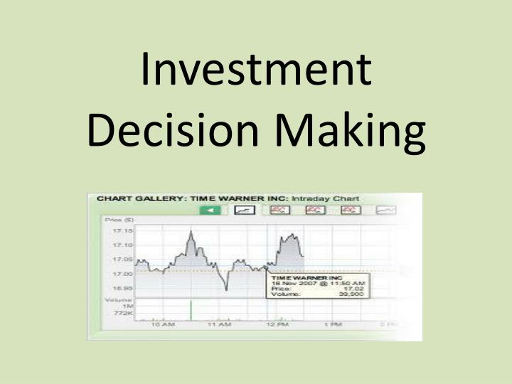 investment decision making n.