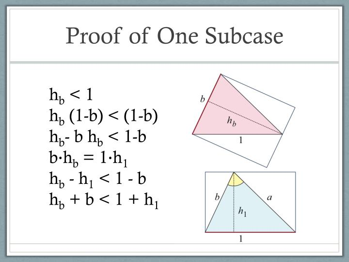Proof of One Subcase