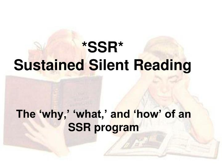 ssr sustained silent reading n.