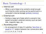 basic terminology i