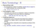 basic terminology ii