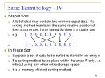 basic terminology iv