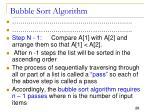 bubble sort algorithm2