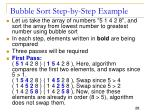 bubble sort step by step example
