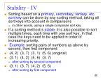 stability iv