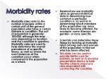 morbidity rates