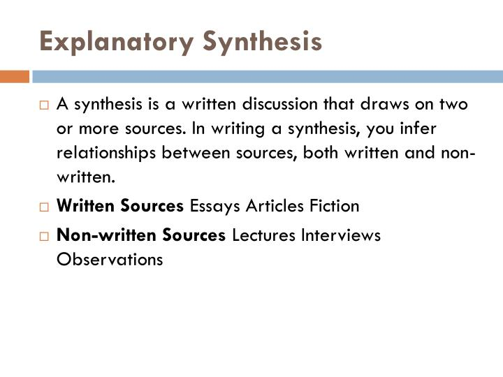 explanatory synthesis essay
