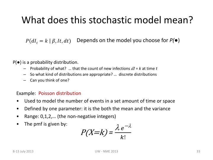 What does this stochastic model mean?