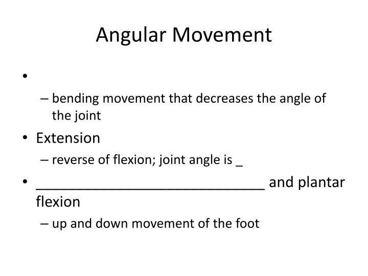Angular Movement