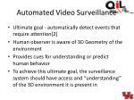 automated video surveillance