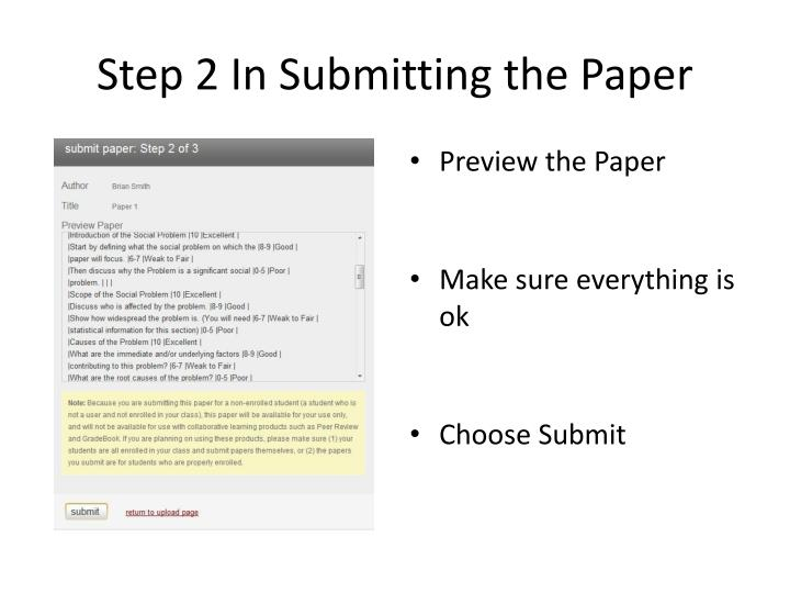 submit the paper