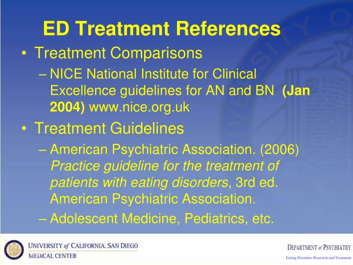 ED Treatment References