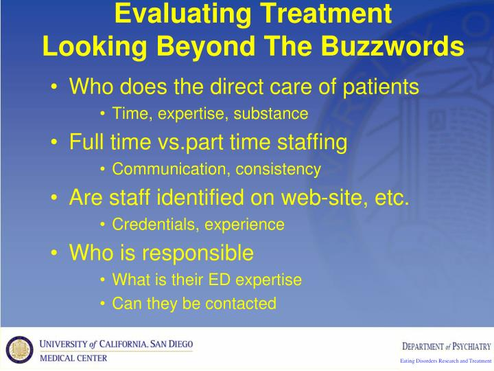Evaluating Treatment