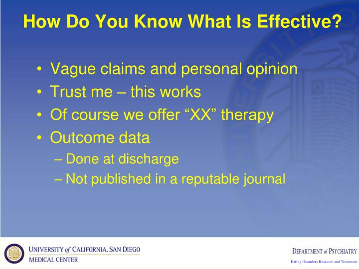 How Do You Know What Is Effective?