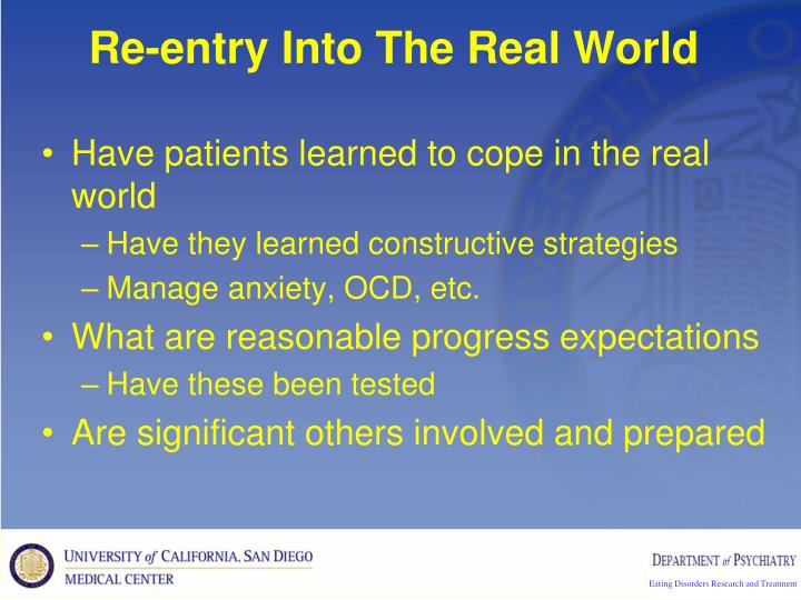 Re-entry Into The Real World