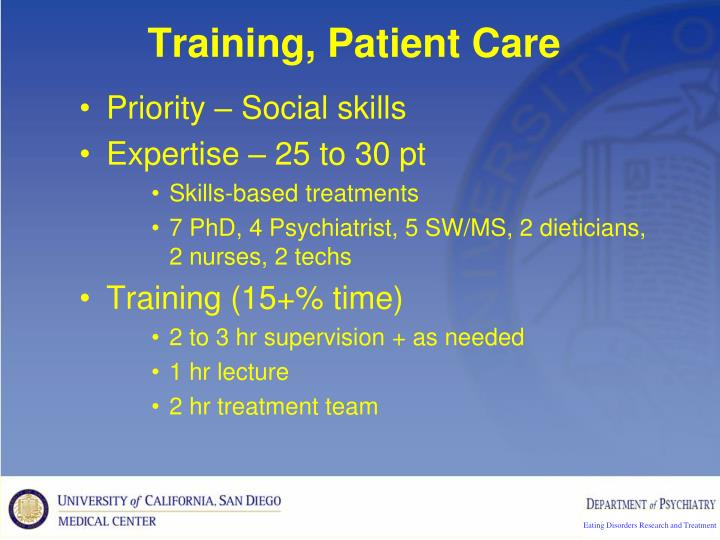 Training, Patient Care