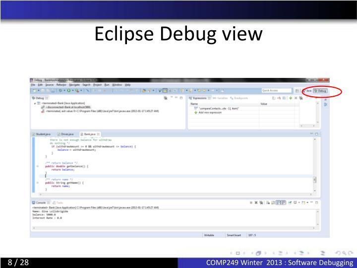 Eclipse Debug view